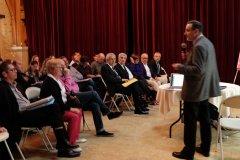Pedro Salas presentando el Proyecto