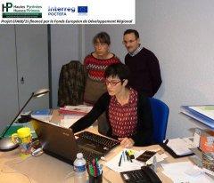 Séance de travail projet INSPYR à la Chambre d'Agriculture des Hautes-Pyrénées (CDA65) le 25 oc